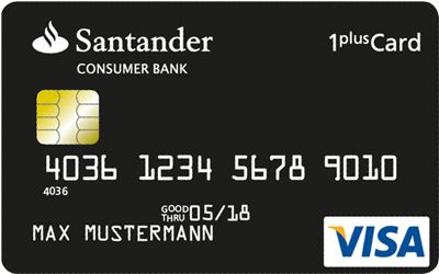 1Plus VISA Card Santander