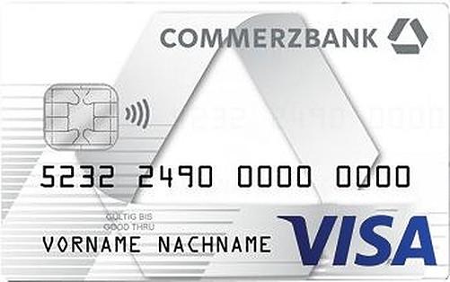 Bild Commerzbank Visa Prepaid Kreditkarte