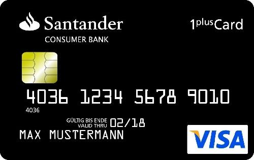 Bild Santander 1plus Visa Card