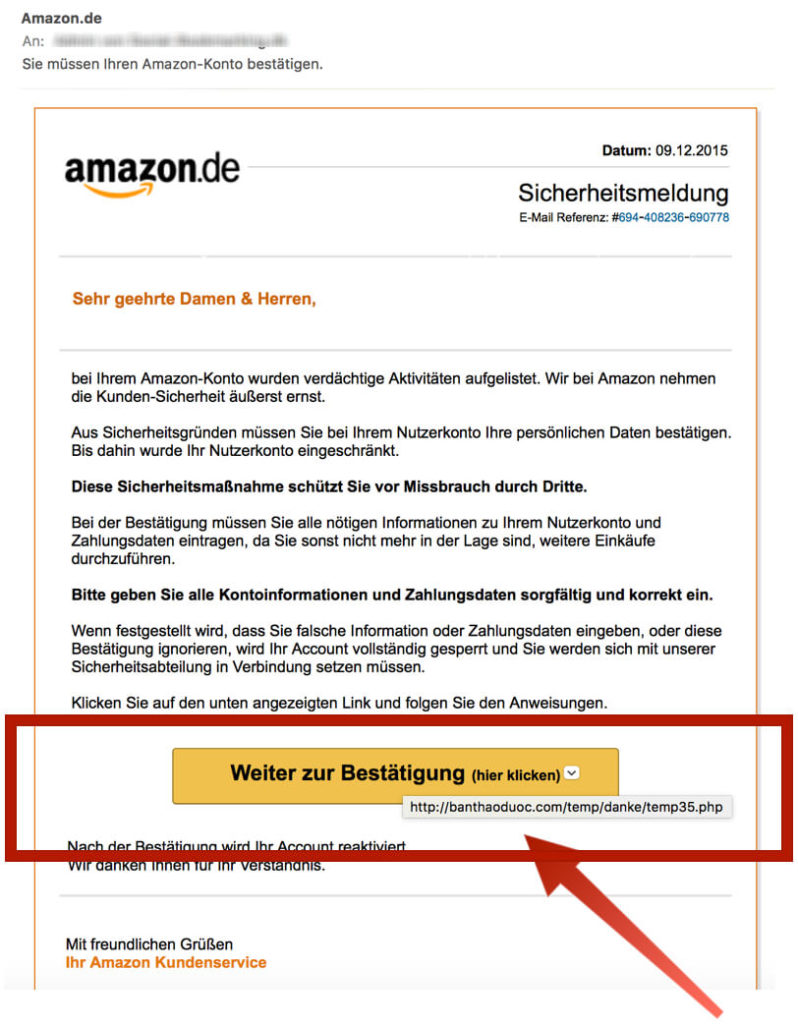Amazon Phishing Mail