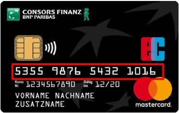 Bild Consors Finanz Mastercard