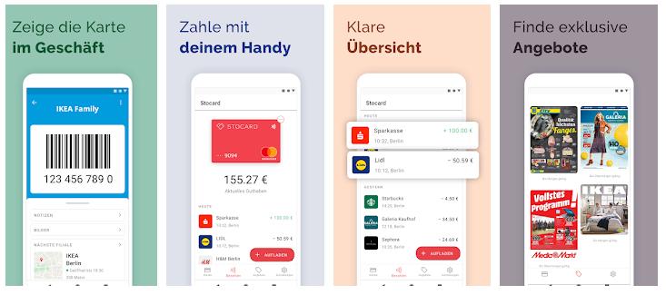 Funktionen Stocard App Mastercard
